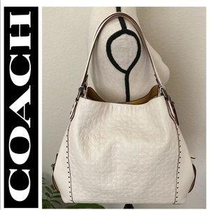 COACH Signature Leather Edie 42 Handbag & Wallet!